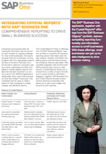 b1 brochure - integrating crystal reports with business one